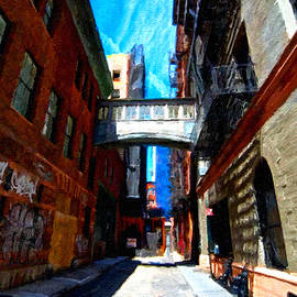 New York City Skyline Alley by Tony Rubino