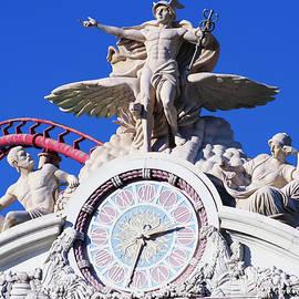 New York New York Hotel Casino Clock, Las Vegas, NV, USA by Derrick Neill