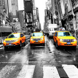 New York, Times Square Taxis by Paul Thompson