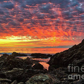 Newport Beach Sky On Fire by Eddie Yerkish