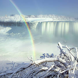 Niagara in Winter  by Magda Bognar