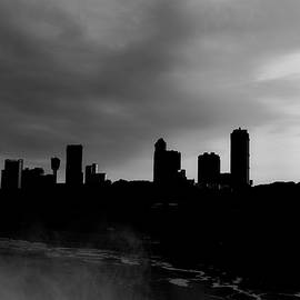 Niagara Skyline BW by Michael Hills