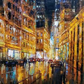 Night cityscape -1  by Narek Qochunc