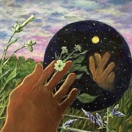 Night Flower Dreams As Morning Begins by Randy Burns