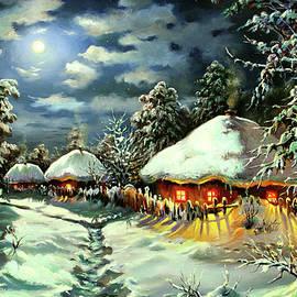 Night in a Snowy Hamlet by Serhiy Kapran