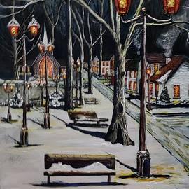 Night in the park  by John Davis