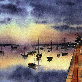 Night Reflections  by Dora Hathazi Mendes