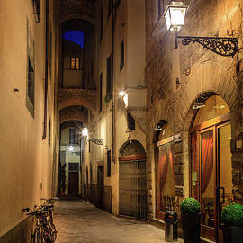 Night street in Florence by Alexey Stiop
