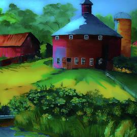 Night Time at Nicks Barn by Susan Buscho