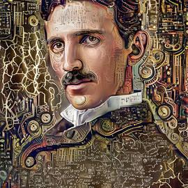 Nikola Tesla by Stefano Menicagli