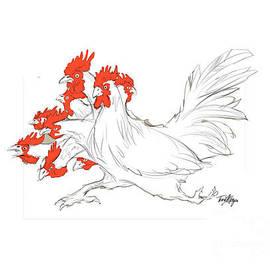 Nine Headed Chicken Dragon by Tony W Morgan