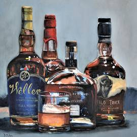 No Pappy Here - Bourbon Bar Painting by Donna Tuten
