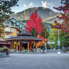 Nobody in Whistler village on a quiet autumn morning by Pierre Leclerc Photography