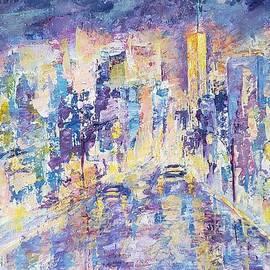 Nocturne 111. City lights by Olga Malamud-Pavlovich