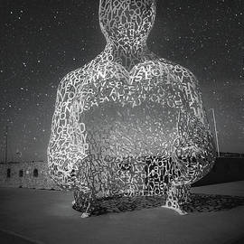 Nomade Sculpture In Antibes, France BW3 by Liesl Walsh