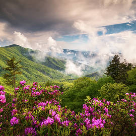 North Carolina Blue Ridge Parkway Appalachian Mountains Scenic Landscape Asheville NC by Dave Allen
