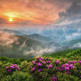 North Carolina Blue Ridge Parkway Spring Appalachian Mountains NC by Dave Allen