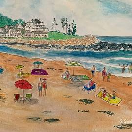 North Hampton Beach in Summer by Anne Sands