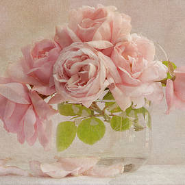 Pink Roses in Vase by Denis O' Reilly
