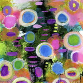 Nothing to Lose 2 Abstract Floral Painting by Itaya Lightbourne
