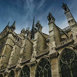 Notre Dame Cathedral Paris 2008 by Chuck Kuhn