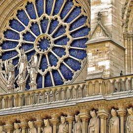 Notre Dame Rose Window 2 by Jean Hall
