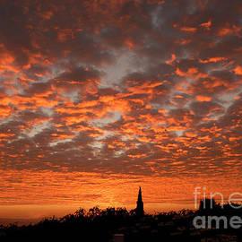 November Orange Puffs Sunset  by Julieanne Case