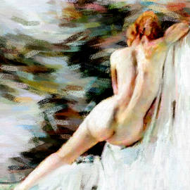 Nude on chair by James Shepherd