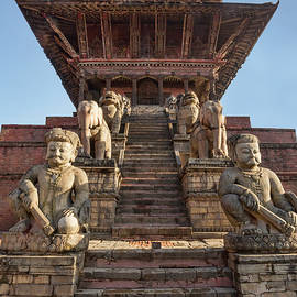 Nyatapola Temple, Bhaktapur, Nepal by Lindley Johnson