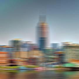 NYC skyline motion blur by Geraldine Scull