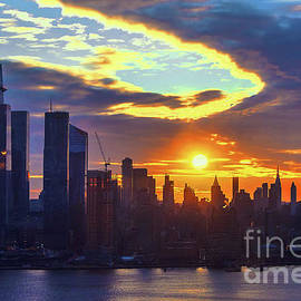 NYC Stormy Skies Sunrise by Regina Geoghan