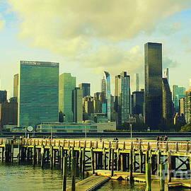 NYC's Midtown - A View Across the East River by Dora Sofia Caputo
