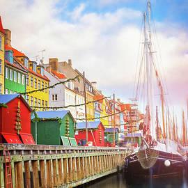 Nyhavn Neighborhood Copenhagen Denmark  by Carol Japp