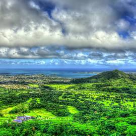 Oahu HI Ko'olau Golf Club Kaneohe Landscape Seascape Art by Reid Callaway
