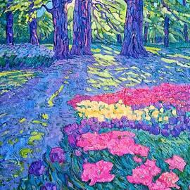 Oaks and tulips by Victoria Galtsova