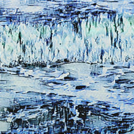Ocean Motions In Abstract by Leslie Montgomery