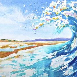 Ocean Wave Beach View by Carlin Blahnik CarlinArtWatercolor