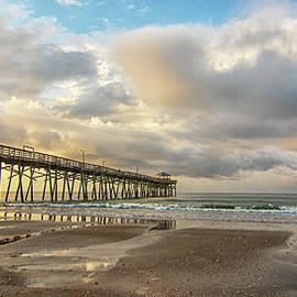 Oceanana Fishing Pier Sunrise - Atlantic Beach NC by Bob Decker
