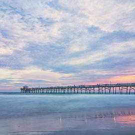 Oceanana Pier at Sunset - Atlantic Beach NC by Bob Decker