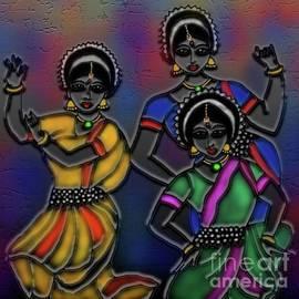 Odissi Dancers by Latha Gokuldas Panicker