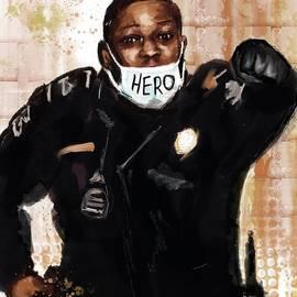 Officer Goodman.  Hero. by Eileen Backman
