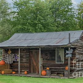 Ohio Autumn Log Home by Janice Pariza