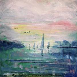 Oil Painting - My Heat Sails - View Whole Painting by Catherine Ludwig Donleycott