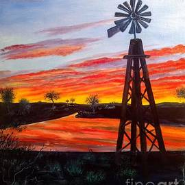 Oklahoma Windmill by Lee Piper