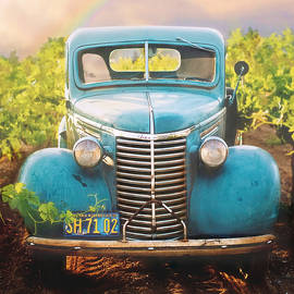 Ol' Blue - 1939 Chevy Pickup - Antique by Susan Hope Finley
