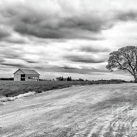 Old Barn - Amity Oregon - Black And White by Beautiful Oregon