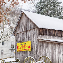 Old Barn and Jackson's Grist Mill #2446  by Susan Yerry