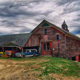 Old Barn and Vintage Cars by Joann Vitali