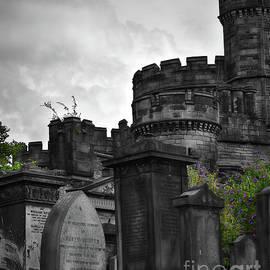 Old Calton Burial Ground, Edinburgh - Selective Colour by Yvonne Johnstone