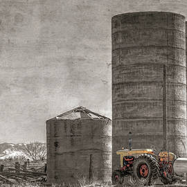 Old Case and Silos by Donna Kennedy
